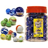 90+1 Glass Marbles Toy in a Jar Standard Size 16mm for Marble Run Game
