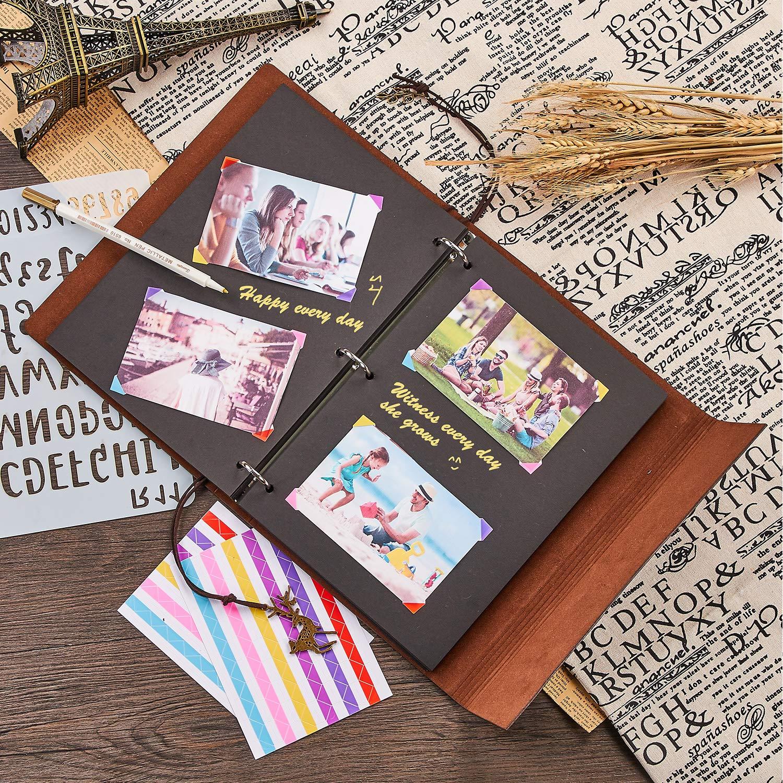 Maruelous Album de Fotos, DIY Cuero Libros de Álbum Firmas Álbum de de Fotos Vintage Boda Scrapbooking Album Cuaderno de Cuero, Navidad Cumpleaños Aniversario San Valentín para Madre Novia Amiga, (Rojo) ce64ff
