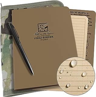 product image for Rite In The Rain Weatherproof Binder Kit: Multicam Cordura Cover, Tan Binder, 50 Sheets Tan Universal Loose Leaf, Weatherproof Pen (No. 9200M-KIT)