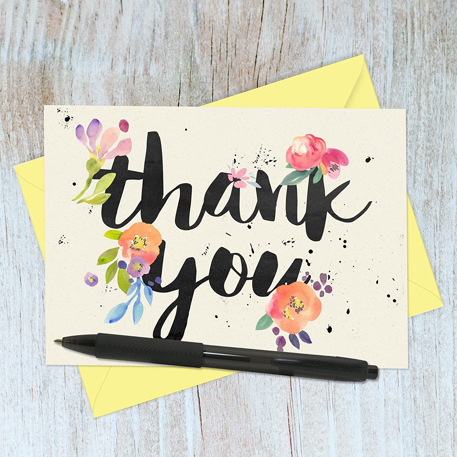 Amazon Thank You Cards 40 Floral Thank You Notes For Your