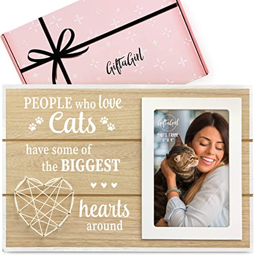 GIFTAGIRL Cat Gifts for Cat Lovers - Crazy Cat Lady Gifts or Cat Themed Gifts Like our Cat Frame, are Great Cat Lover Gifts for Women and Cat Stuff for Cat Lovers. Nice Cat Mom Gifts for Women