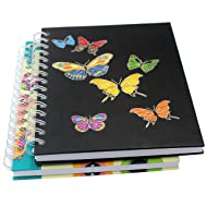 """Spiral Notebook/Spiral Journal/Hardcover Spiral Notebook with Blank Pages-2 Notebooks Per Pack/Total 150 Sheets (300 Pages)-A5, 8.3"""" x 5.7"""""""