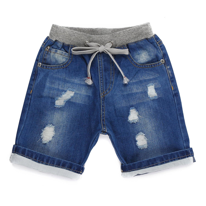 Encontrar Boys Blue Ripped Jeans Shorts 2T-10