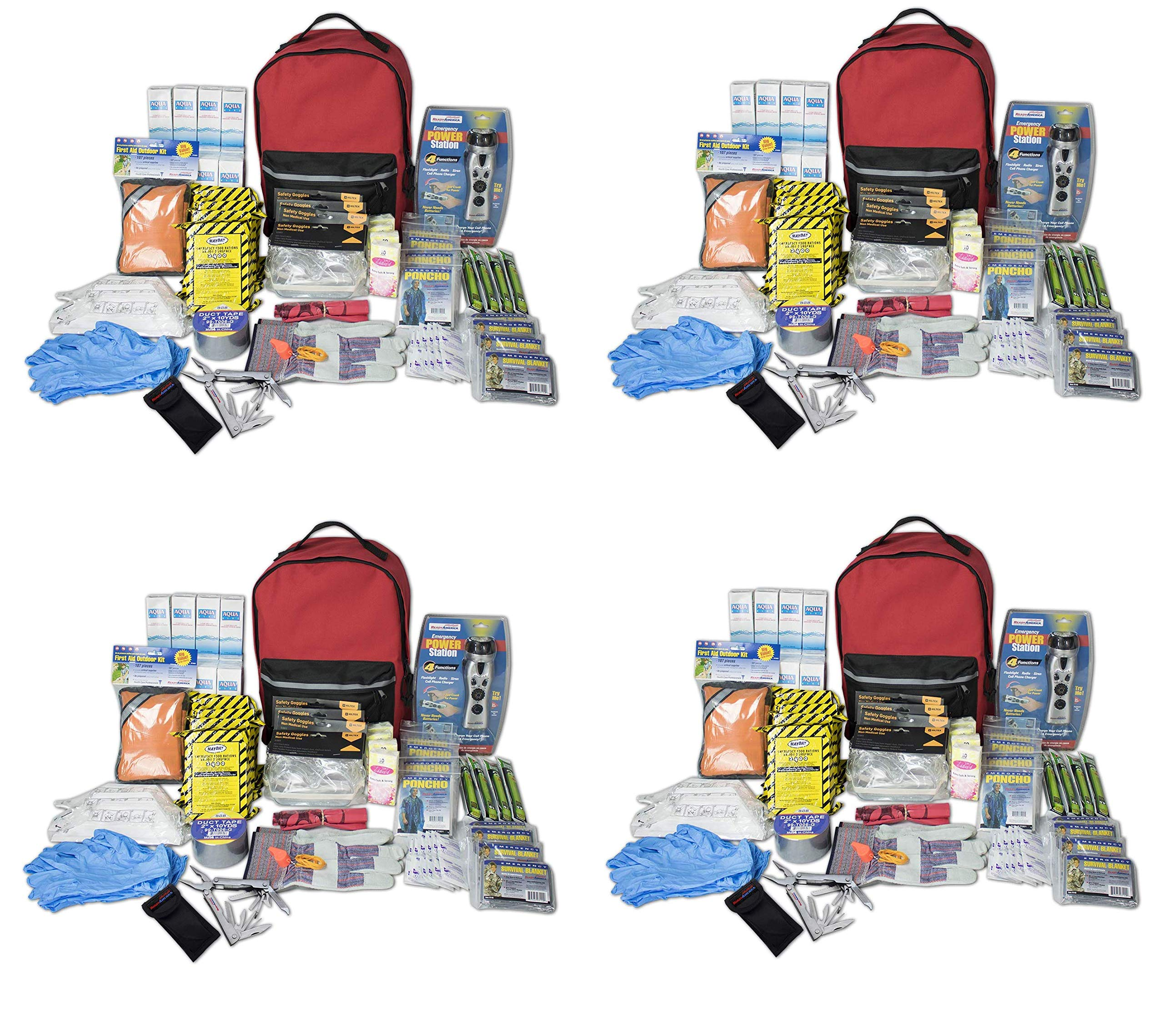 Ready America 70385 Deluxe Emergency Kit 4 Person Backpack (Fоur Расk)