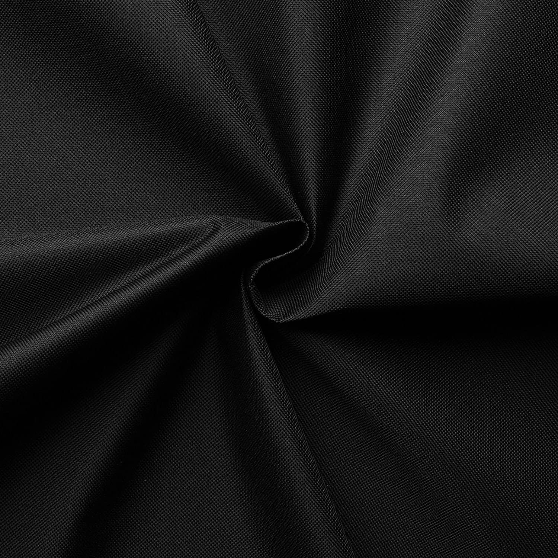 aktivstoffe Carry - Lona de tela impermeable - 100% poliéster - 21 colores - Por metro (negro)