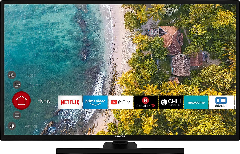 Hitachi HT39F4100C - Televisor de hotel (98 cm/39 pulgadas, Smart TV, incluye Prime Video/Netflix/YouTube, Full HD, Bluetooth, Works with Alexa, sintonizador triple): Amazon.es: Electrónica