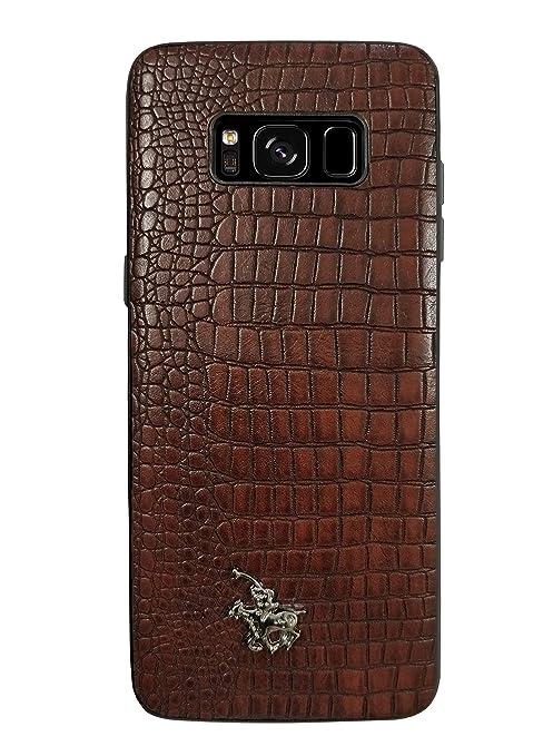 new style b30a1 2891e Samsung Galaxy S8 Premium Designer Case, Dark Brown Cover