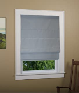 green mountain vista thermal blackout cordless roman shade size 34x63 inch color