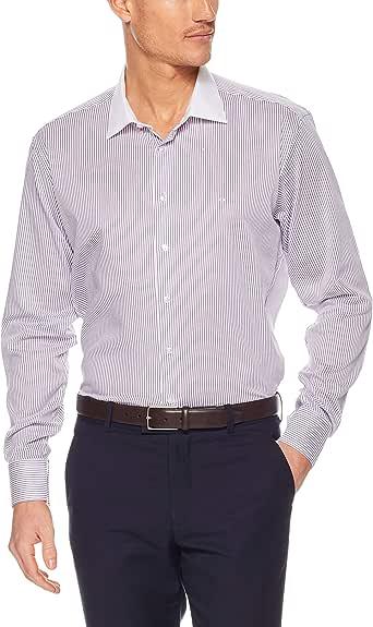 CALVIN KLEIN Slim Fit Business Shirt, Purple Twill St, 43cm Collar