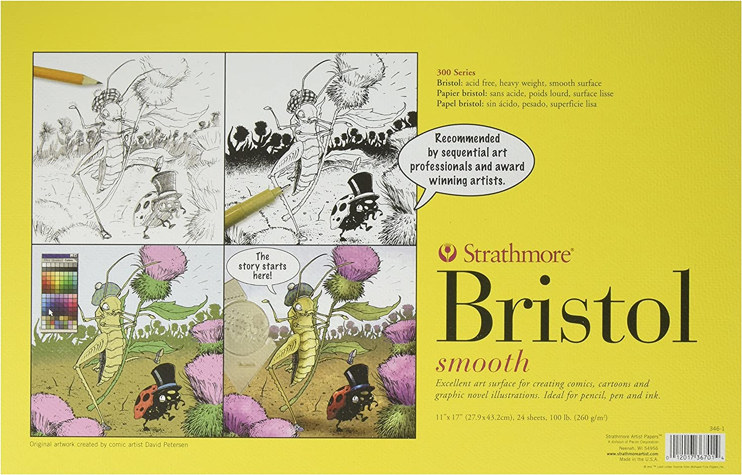 Strathmore 300 Series Bristol Smooth 11 x 17 pulg. 24 hojas