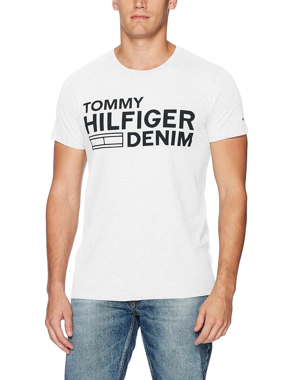 6ec87ee6 Tommy Hilfiger Denim Men's Logo T-Shirt with Short Sleeves | Amazon.com