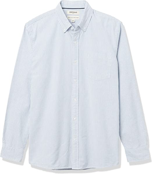 Brand Goodthreads Mens Slim-fit Long-Sleeve Fashion Stripe Oxford Shirt