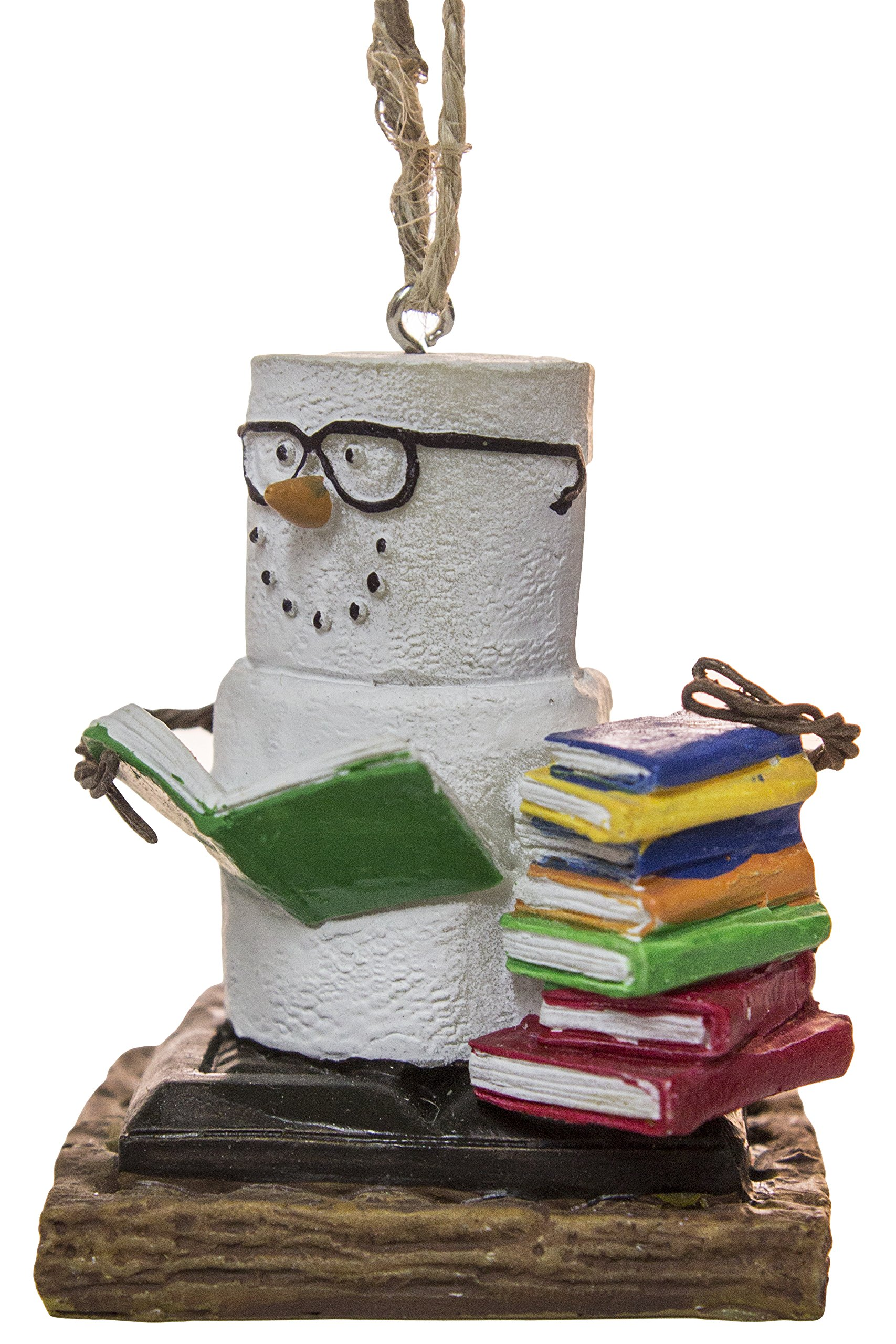 S'Mores Book Lovers Book Nerd Christmas/ Everyday Ornament