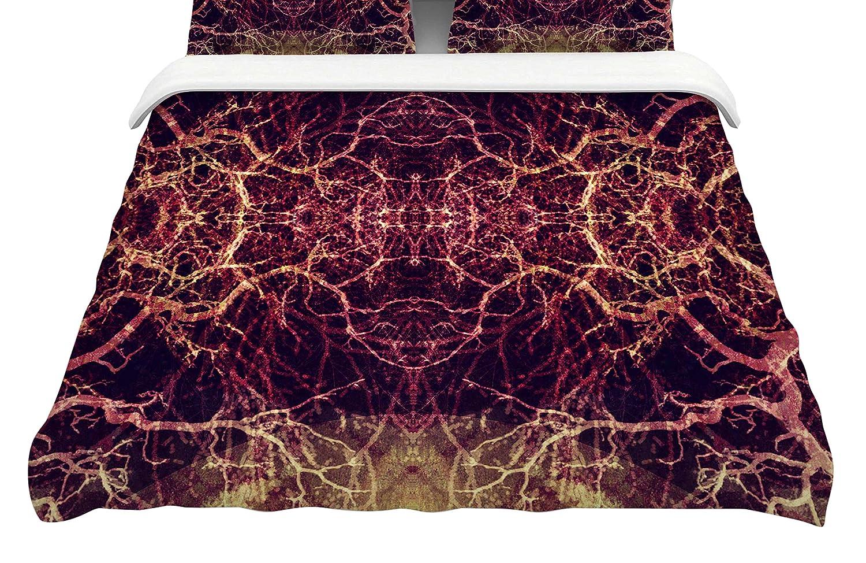 Kess InHouse Pia Schneider Burning Roots I+VIII King Cotton Duvet Cover 104 x 88,