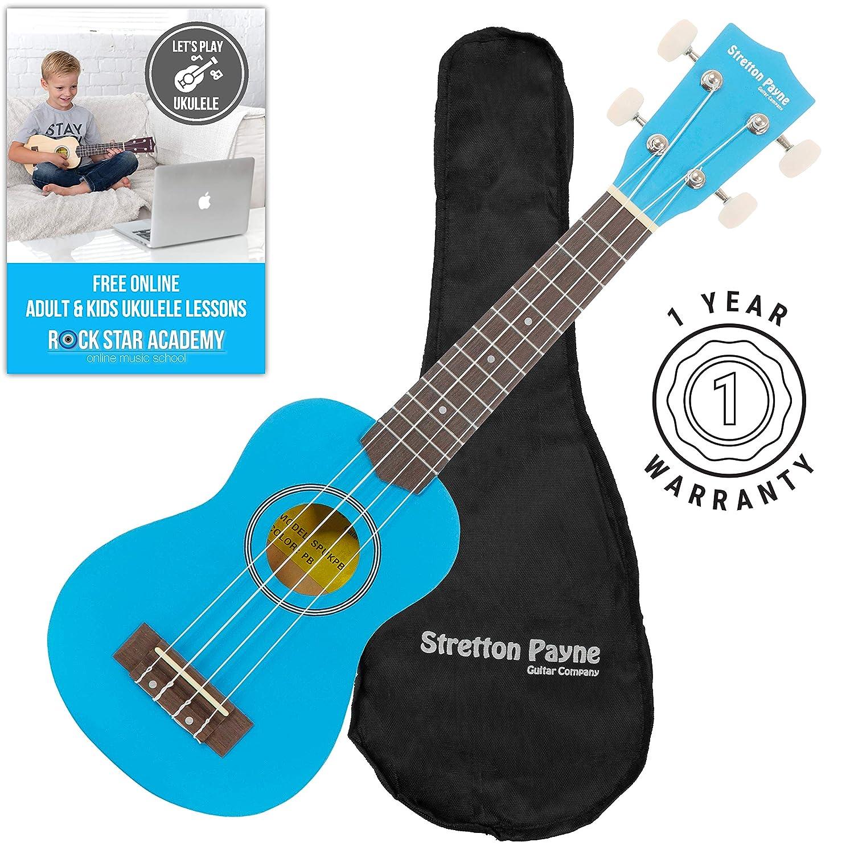 Ukelele soprano con bolsa y curso de Ukelele en Internet: Amazon.es: Instrumentos musicales