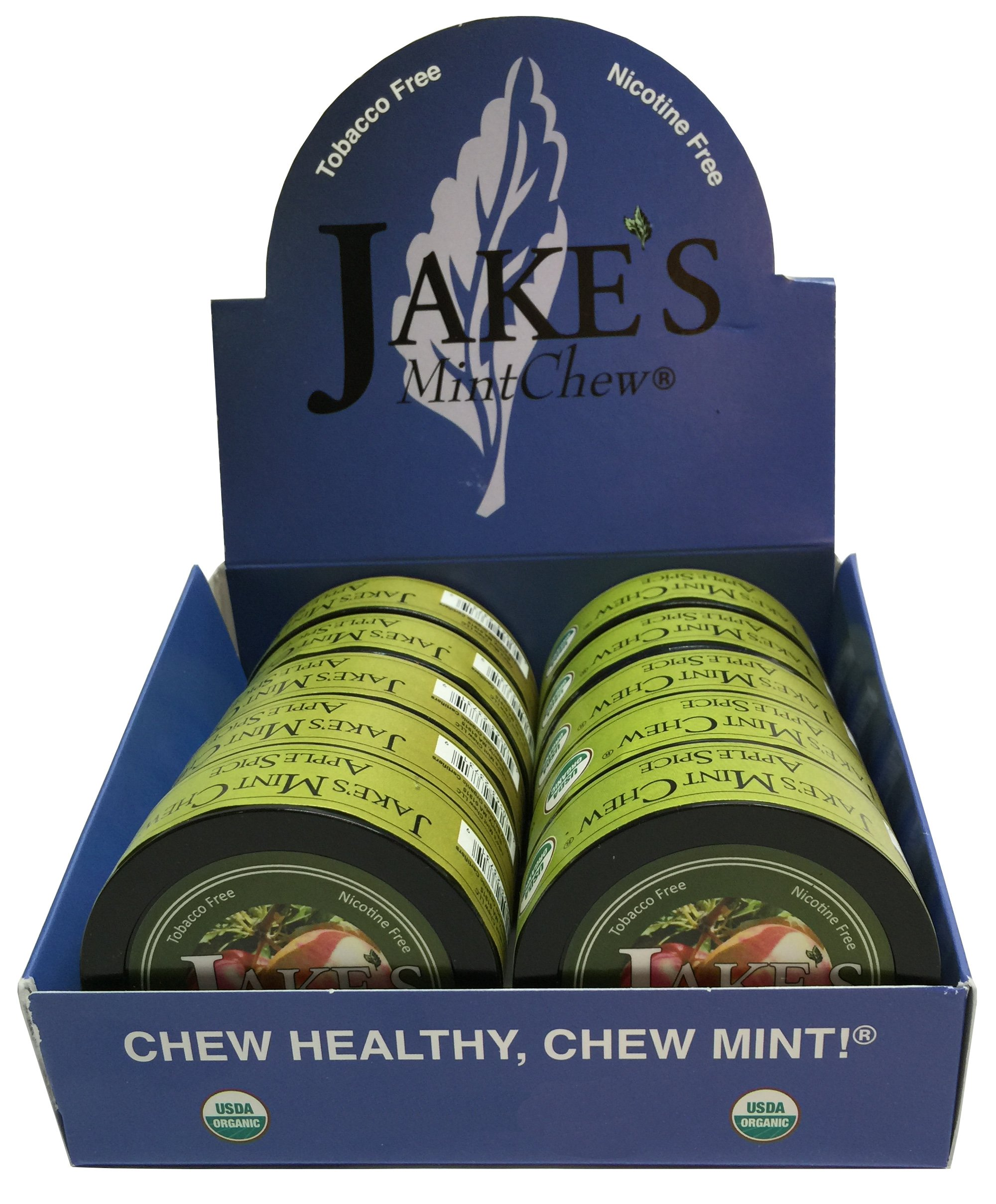 Jake's Mint Chew - Apple Spice - Tobacco & Nicotine Free! (10 cans)