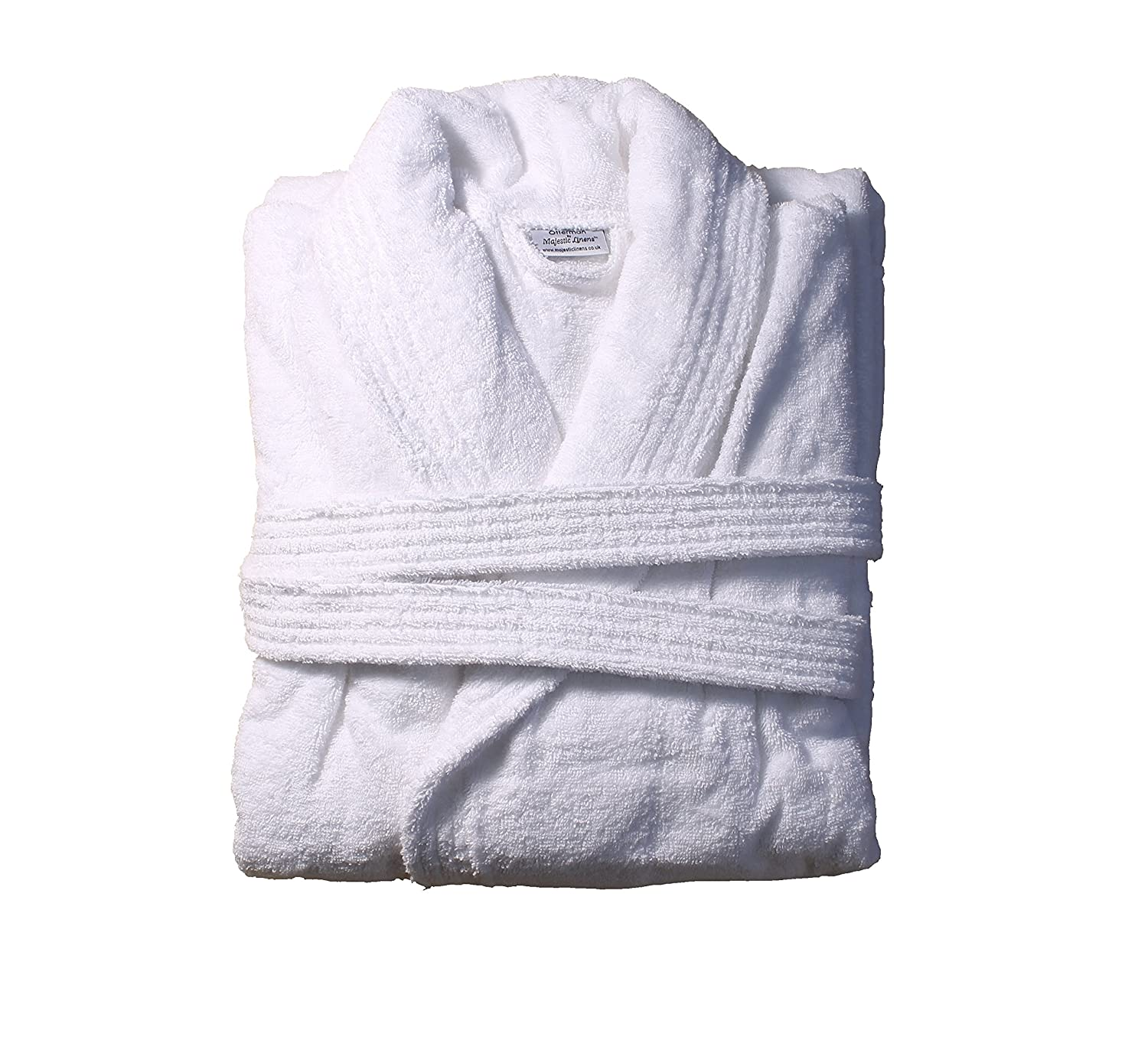 Textiles Direct White Otterman Bathrobe 100% Turkish Cotton 500 GSM ...