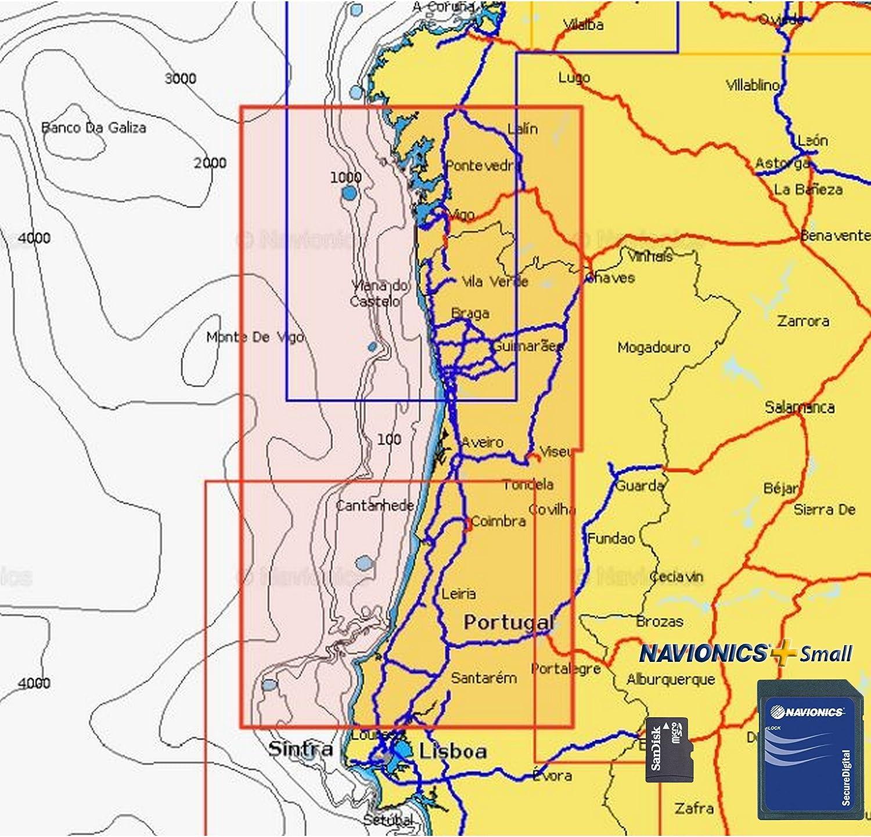 Navionics Plus Small MicroSD/SD Norte de Portugal: Amazon.es: Deportes y aire libre