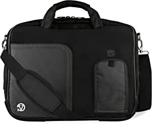 """Jet Black Laptop Bag for Dell Latitude, Inspiron, Precision, XPS, Alienware, Vostro, G3 G5 G7 Gaming 14"""" to 15.6 inch"""