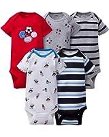 Gerber Clothing Baby Boys 5 Pack Variety Onesies Undershirt Bodysuits