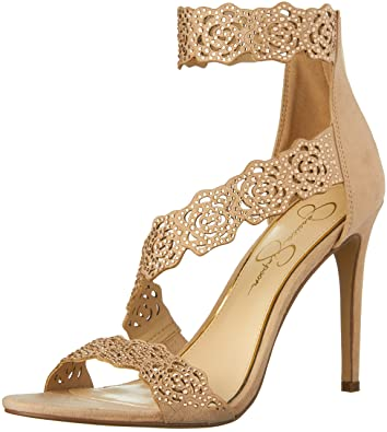 Jessica Simpson Womens Geela Dress Sandal Powder Blush Size 100 Grya