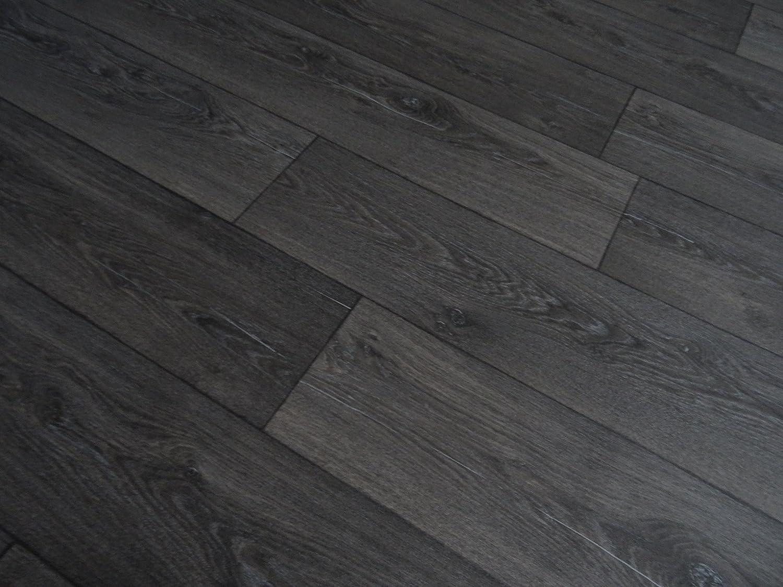 schwarz PVC in Holzdielen-Optik von Alpha-Tex 9.95/€//m/² L/änge: 600 cm, Breite: 400cm