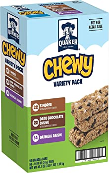 58-Count Quaker Chewy Granola Bars Variety Pack