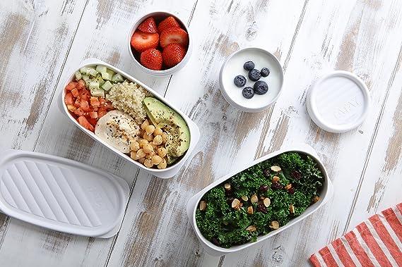 Tatay Fiambrera de Alimentos, Hermética, 0.5L de Capacidad, Tapa Flexible a Presión, Libre de BPA, Apto Microondas y Lavavajillas, Color Blanco - ...