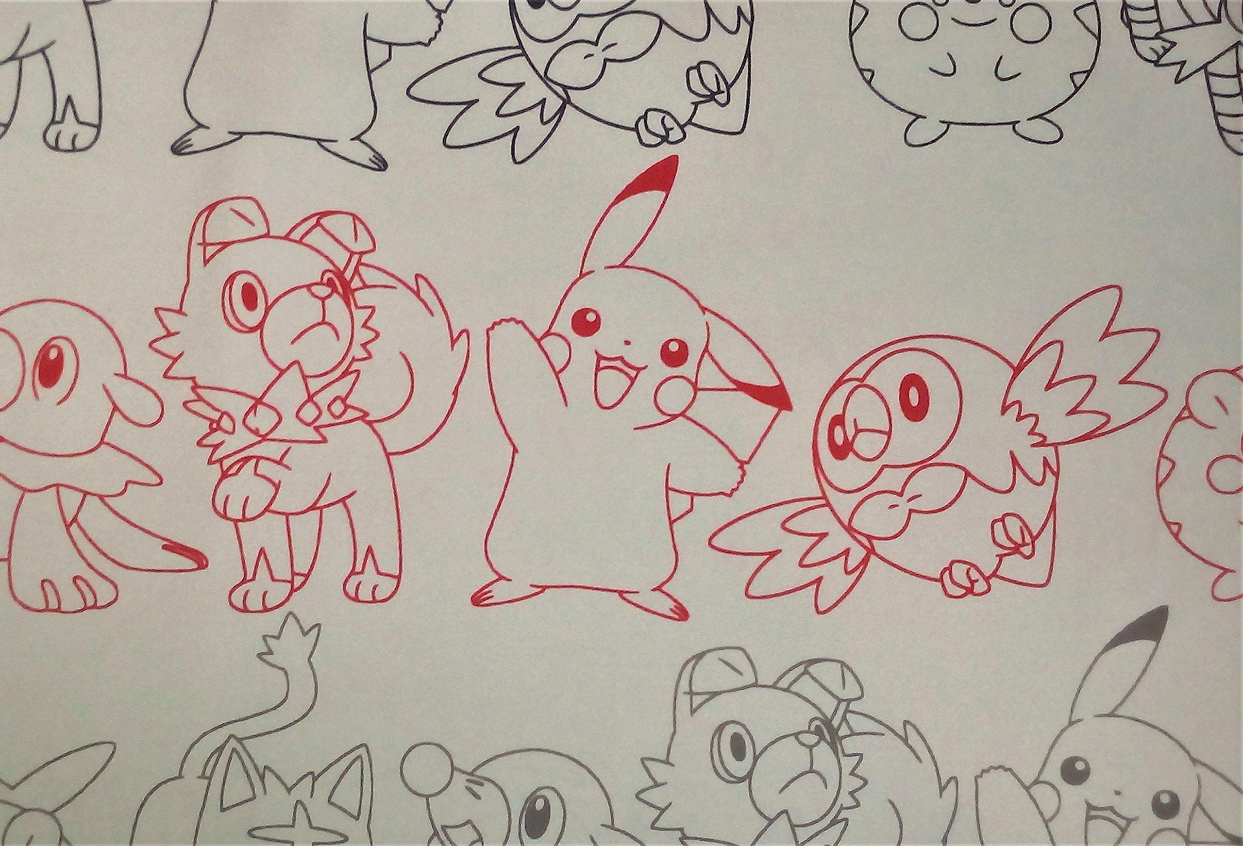 Pokemon Pikachu Prize Card Images 100% Polyester (FLAT SHEET ONLY) Size FULL Boys Girls Kids Bedding
