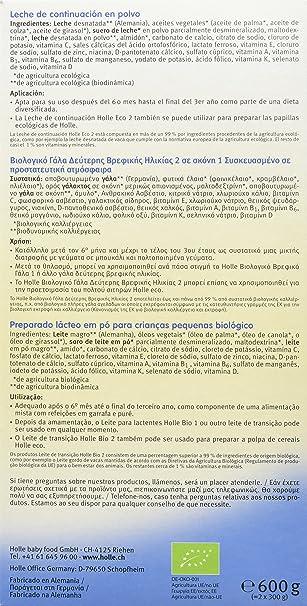 Holle Leche de Continuación 2 (+6 meses) - 600 gr: Amazon.es: Alimentación y bebidas
