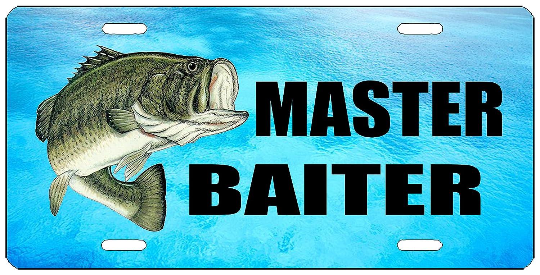 Rogue River Tactical Funny Fishing Master Baiter License Plate Novelty Auto Car Tag Vanity Gift Bass Fish KDWVMA1864
