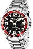 Stuhrling Original Men's 395.33TT11 Analog Regatta Champion Swiss Quartz Date Stainless Steel Link Bracelet Dive Watch
