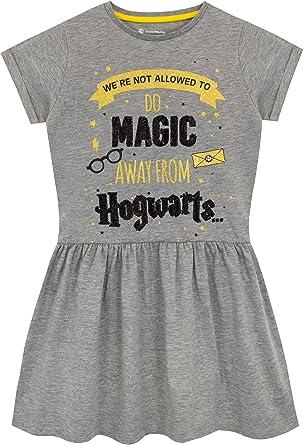 Harry Potter Vestido para niñas Hogwarts Gris 6-7 Años: Amazon.es ...
