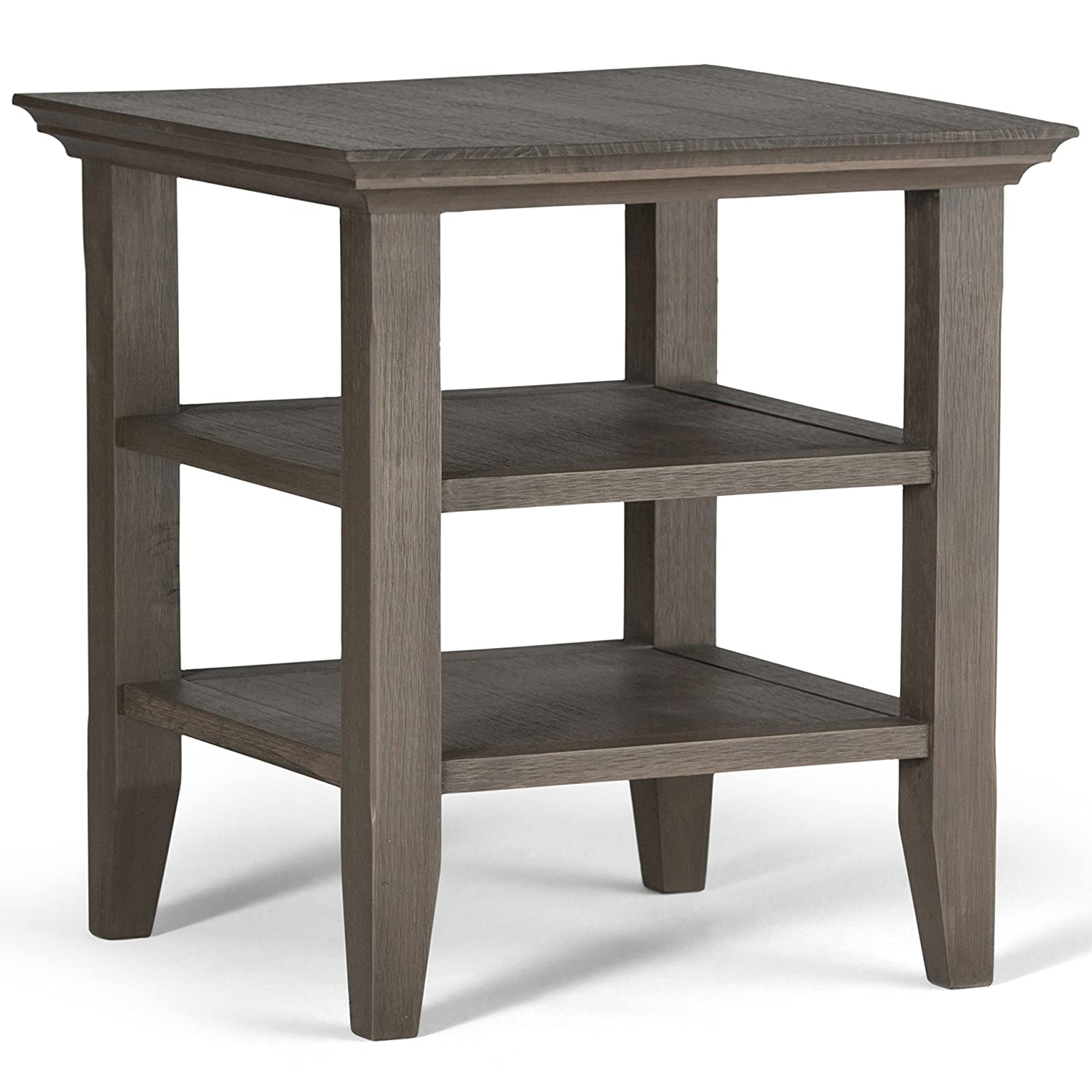 Simpli Home Acadian Solid Wood End Table, Black CCT Global AXWELL3-003-BL