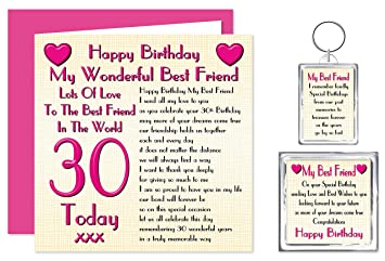 Best Friend 30th Happy Birthday Gift Set