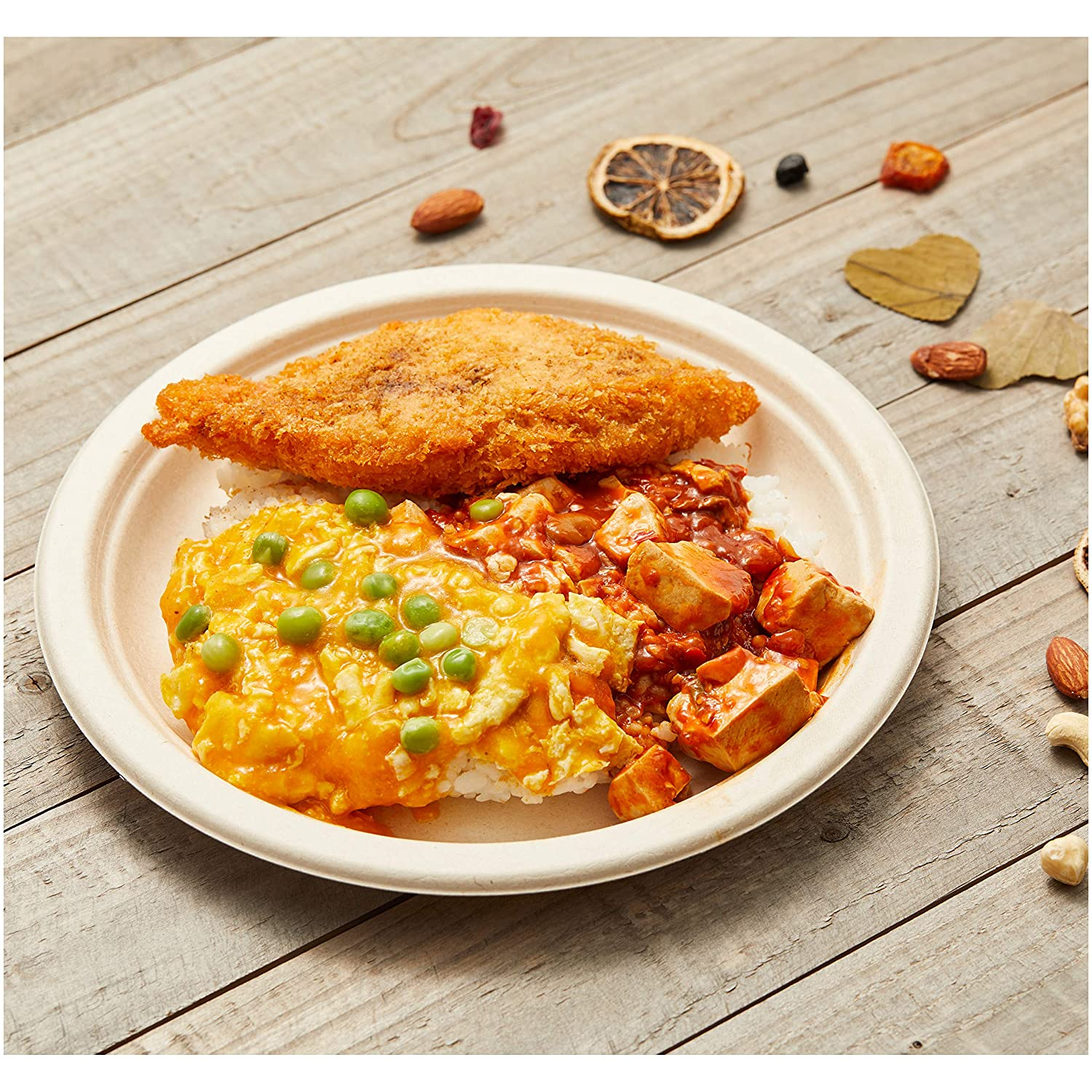 Basics Compostable Plates, 9-Inch, Pack of 500: Industrial & Scientific