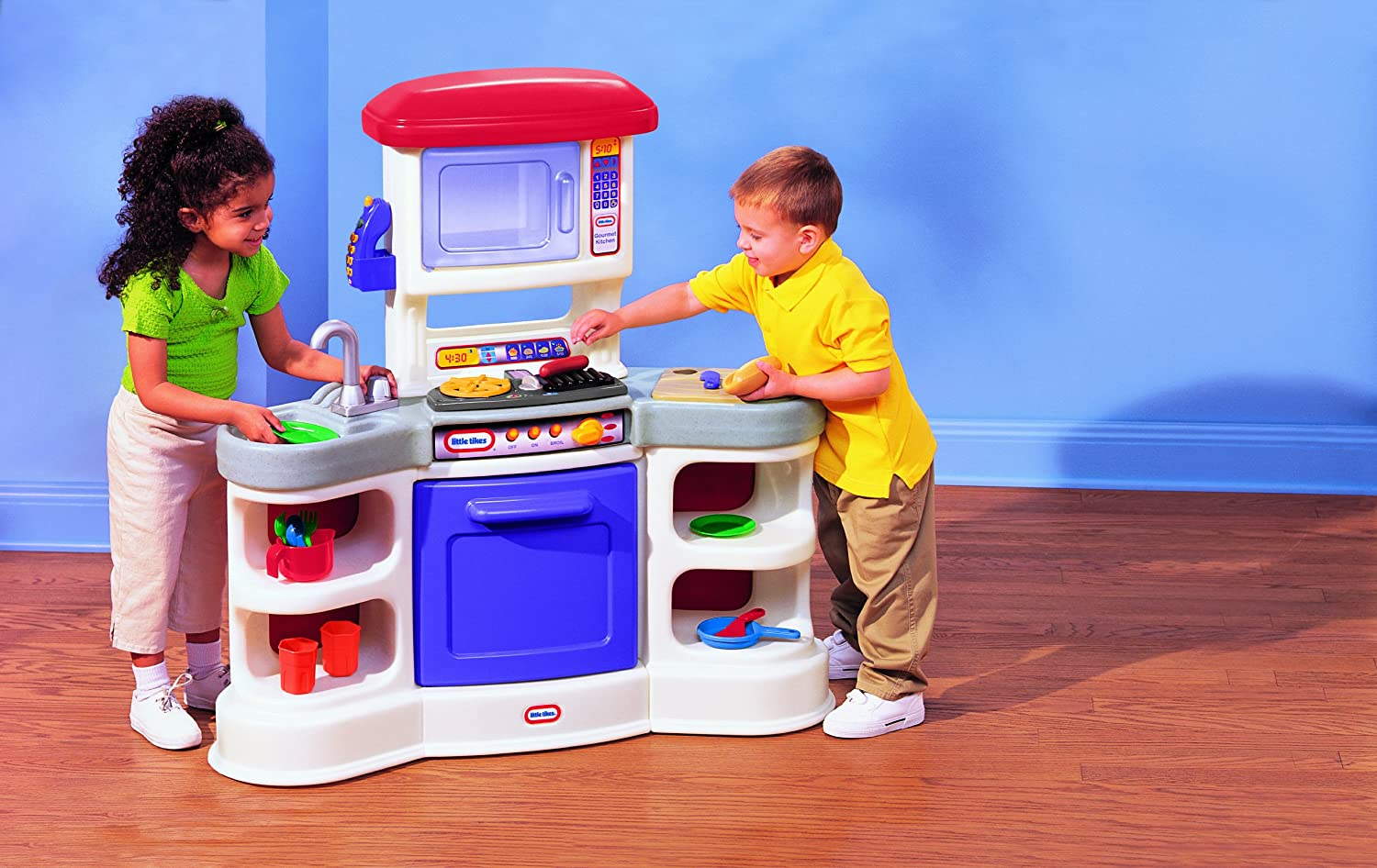 Amazon.com: Little Tikes Cookinu0027 Sounds Gourmet Kitchen Cuisine: Toys U0026  Games