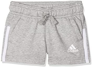 00848dfd87fdb adidas 3S Shorts, Mädchen, 3S, grau (brgrin/weiß): Amazon.de: Sport ...