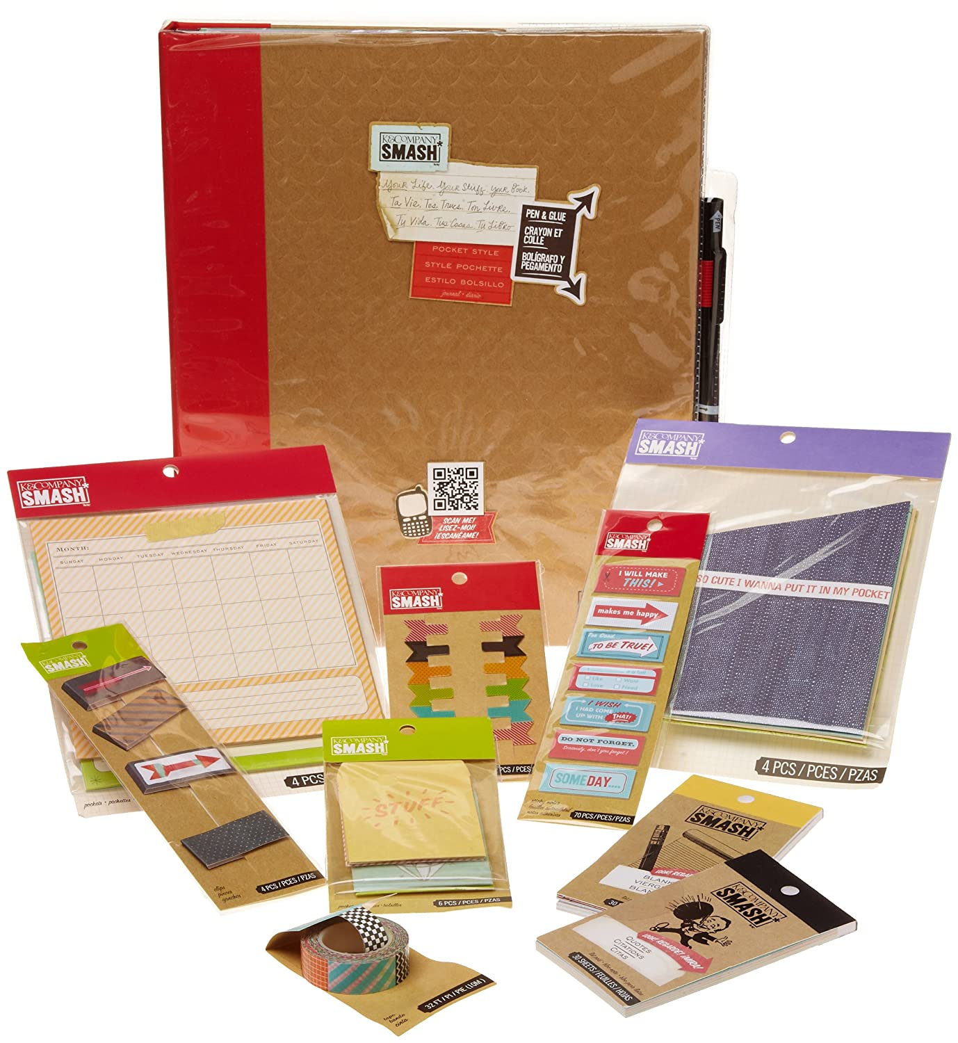K & Company Smash Folio and Accessories Kit EK Success Brands 30-673403