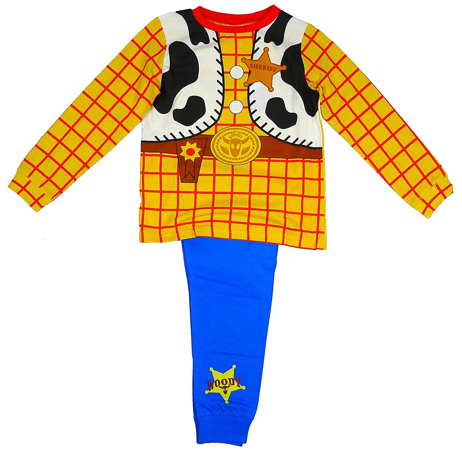 910c9507a1 Boys Toy Story Woody Cowboy Costume Novelty Pyjamas Sizes from 18 Months to  6 Years  Amazon.co.uk  Toys   Games