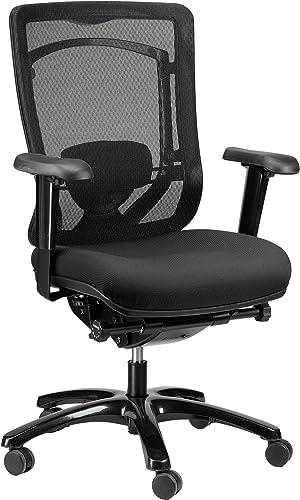 Eurotech Seating Monterey Fabric Seat Mesh Back Chair