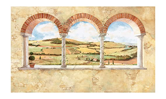 York Wallcoverings Europa II Tuscan View Prepasted Mural, Baked Clay ...