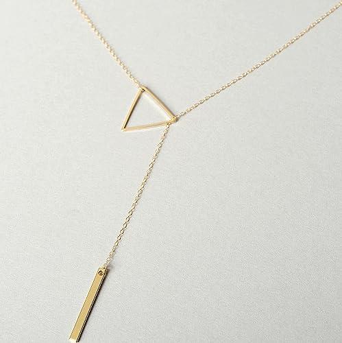 Herkimer Gold filled Minimalist Lariat Necklace