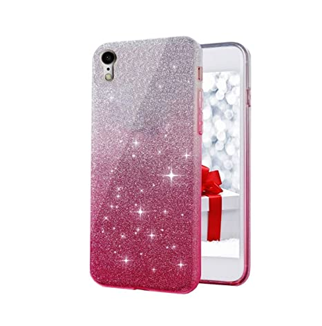 new styles c17c5 1f4e1 Aarnik Gradient Glitter Transparent Soft Back Cover for Oppo A37 /A37F -  Pink
