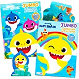 Baby Shark Coloring Book Super Set - Bundle Includes 2 Baby Shark Activity Books with 300 Bonus Stickers (Baby Shark…