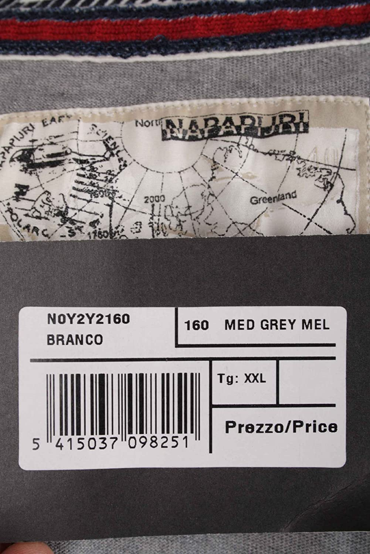 Napapijri Men's Jacket Sweatjacket Hoodie Grey Size XXL 3XL #RIF017