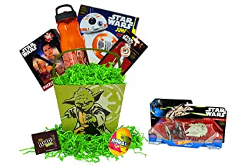 Amazon.com : Yodas Star Wars Easter Basket For Kids Filled With Star ...