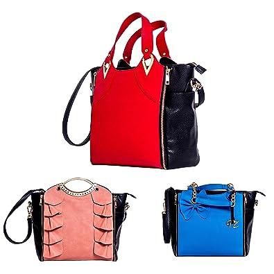 bb9ecaf65d Tifi Zouk Interchangeable 3 in 1 handbag set PU Leather Top Handle Cross  body shoulder bag Great Gift for Women  Handbags  Amazon.com