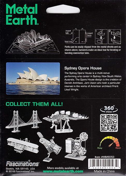 Fascinations Metal Earth 3D Laser Cut Steel Puzzle Model Kit Sydney Opera House