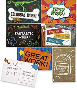 Motivational Teacher Postcards for Kids (6 x 4 in, 96 Pack)